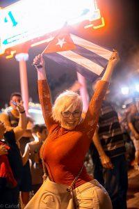 Celebration in Miami.  Photo by Carlos Miller
