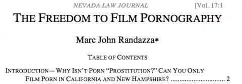 freedom to film porn